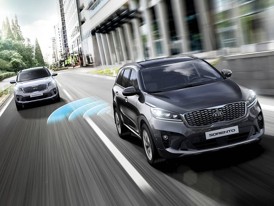 Kia Sorento blind spot collision warning